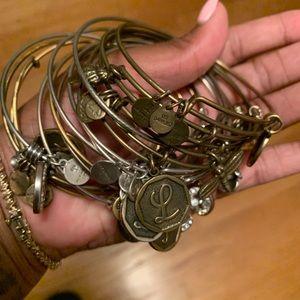 Bundle of Alex & Ani bracelets.
